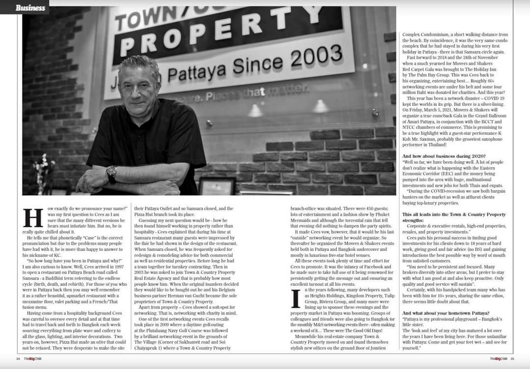 The BigChilli February 2021, Town and Country Property Pattaya